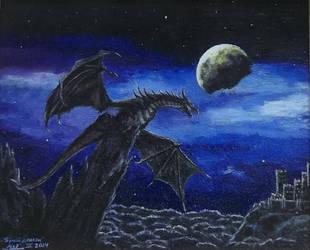 Black dragon by VeronikaDark