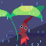 Pikmin and it's raining
