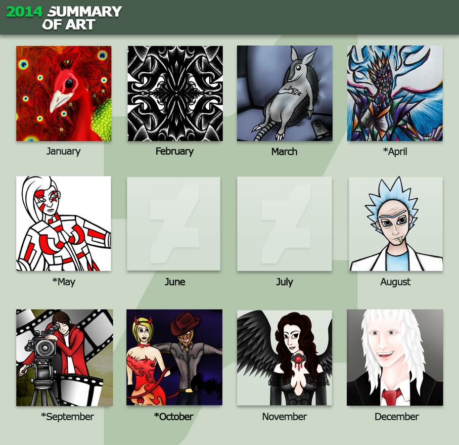 2014 Summary Of Art by RubyPheonix