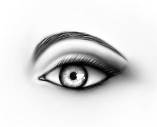 Realistic Eye by RubyPheonix