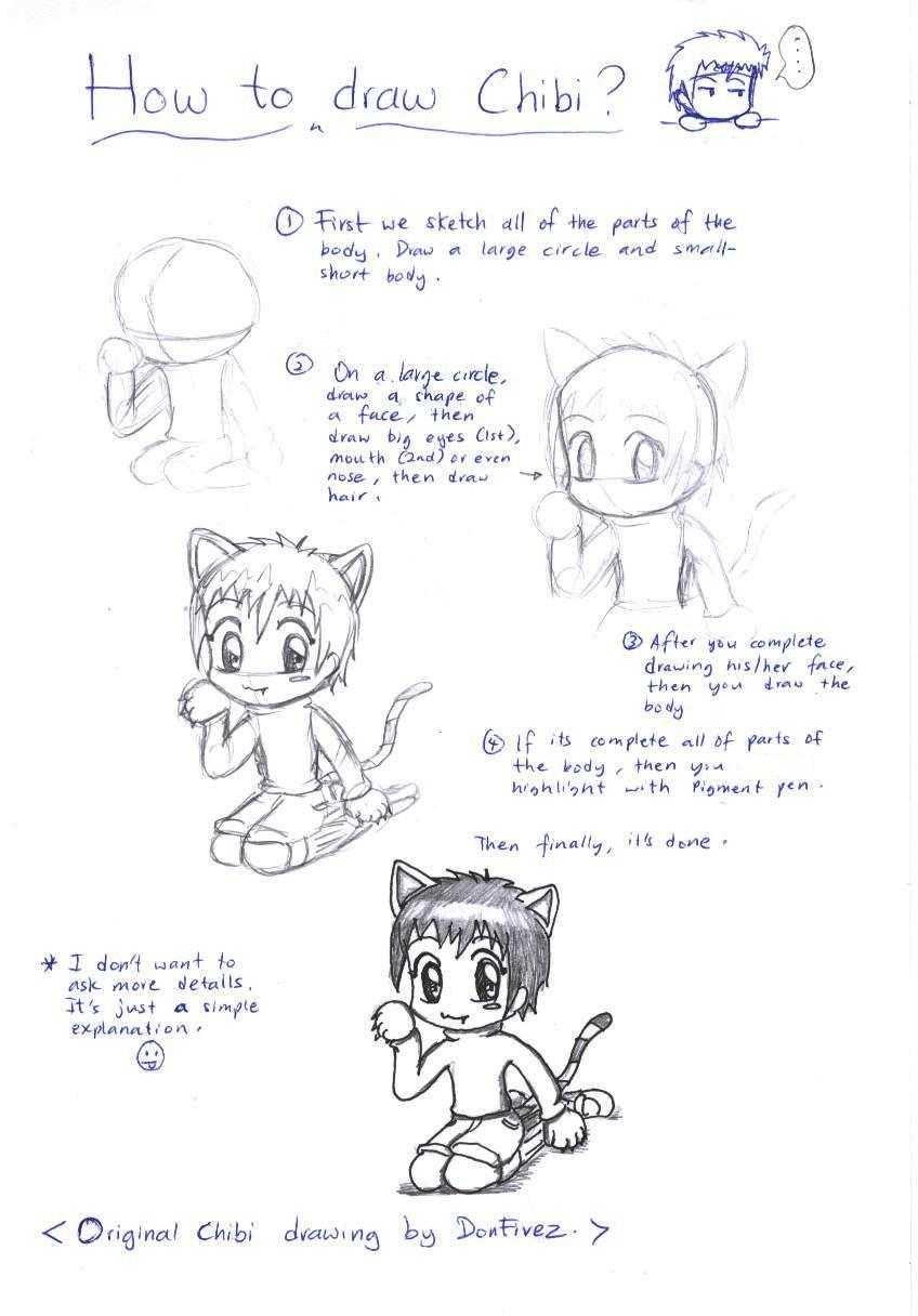 How To Draw Chibi By Donfivez On Deviantart