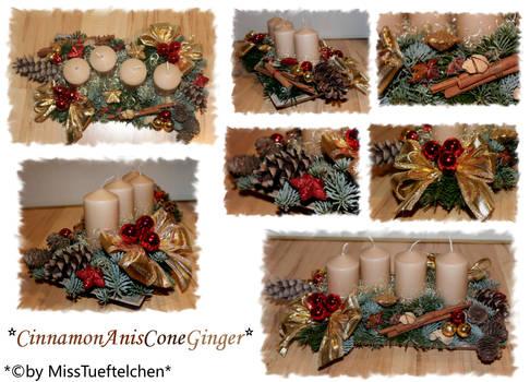CinnamonAnisConeGinger Christmas arrangement
