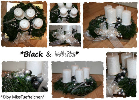 Black and White Christmaswreath