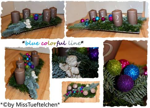 Blue Colorful Line Christmas arrangement