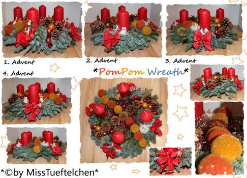 pompom Christmas wreath
