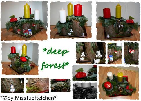 deep forest Christmas arrangement