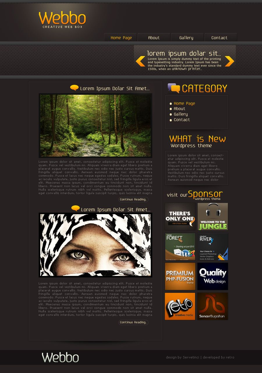Webbo WordPress Thema