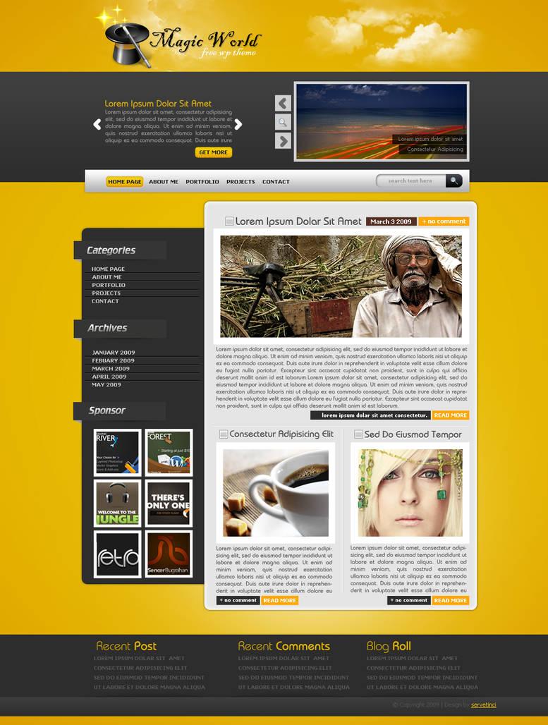 Magic World Wordpress Theme