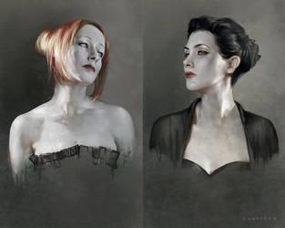 Cassandra and Vasara by sheppardarts