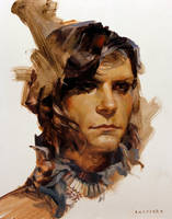 Portrait Study from Life, 11/15/15 by sheppardarts