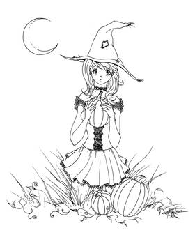 Innocent Witch Lineart