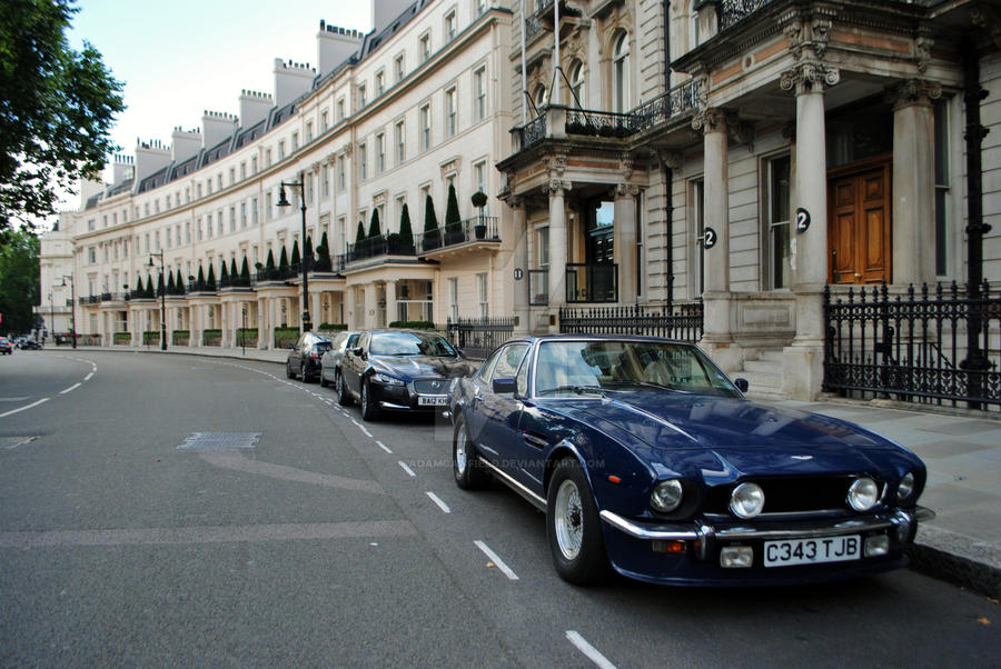 Aston Martin V8 Vantage in London by AdamCanfield