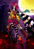 pretty girl...with a chainsaw by Atomik-Goku