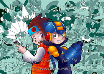 Print - RockmanEXE Tribute by Genolover
