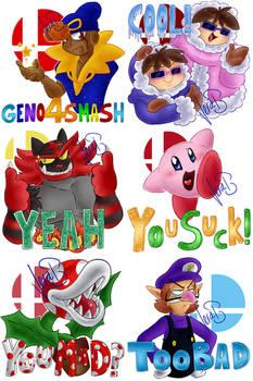 Smash Bros Ultimate Stickers
