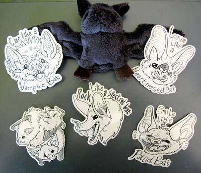 Bat Stickers on Etsy now!