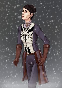Seeker in the snow