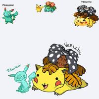 POKEFUSION: Pikausaur+Venachu by WolfyTails