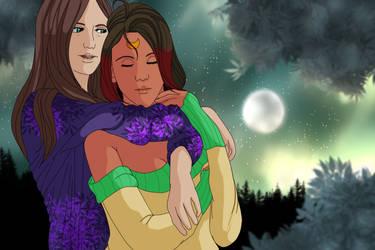 A Supportive Hug by oreana