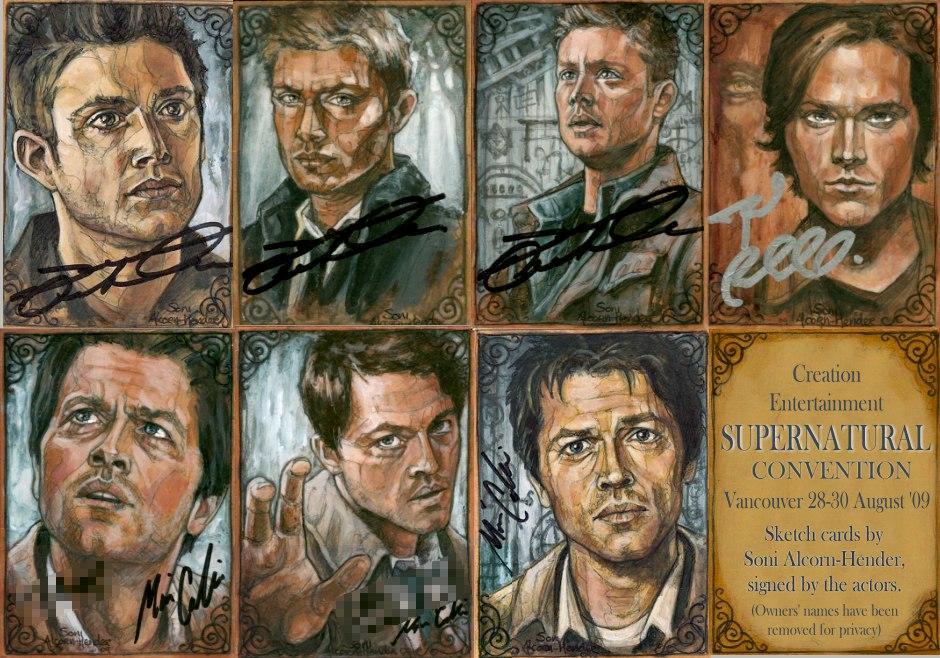 Supernatural signed ar...