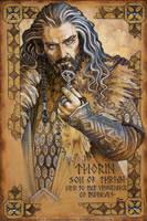 Hobbit Illumination: Thorin, vengeance of Dwarves by BohemianWeasel