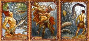 Greek heroes: Perseus, Theseus, Jason