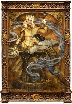 Annatar (Sauron) and Celebrimbor by BohemianWeasel