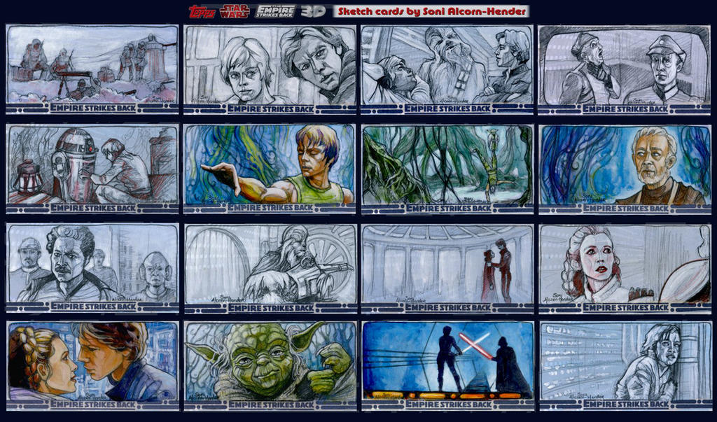 Topps Empire Strikes Back cards by BohemianWeasel