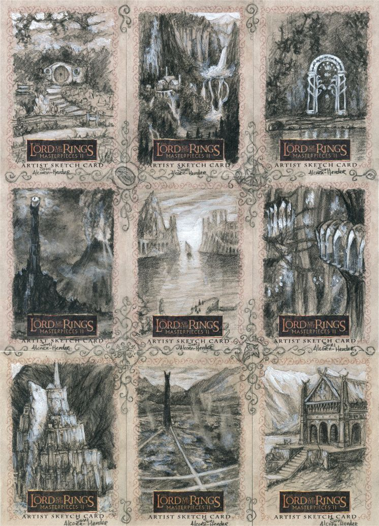 Topps Lord of the Rings cards by BohemianWeasel