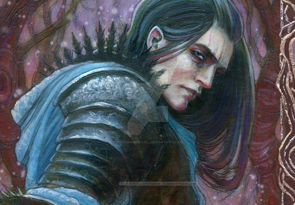 Eol the dark Elf - detail by BohemianWeasel