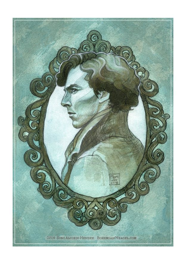 Sherlock cameo sketched by BohemianWeasel