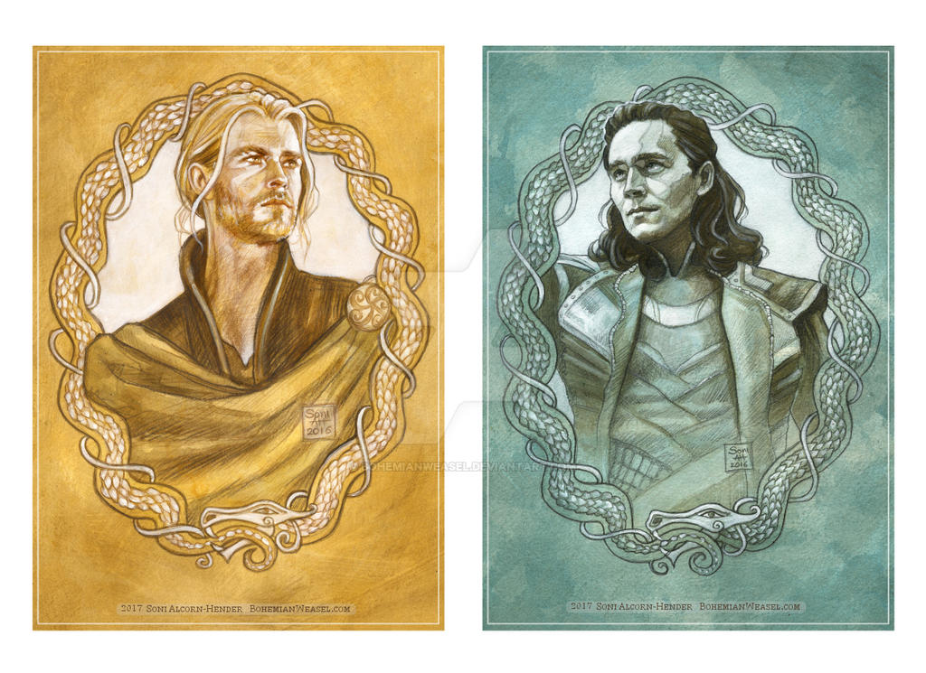 Brothers of Asgard: Thor and Loki by BohemianWeasel