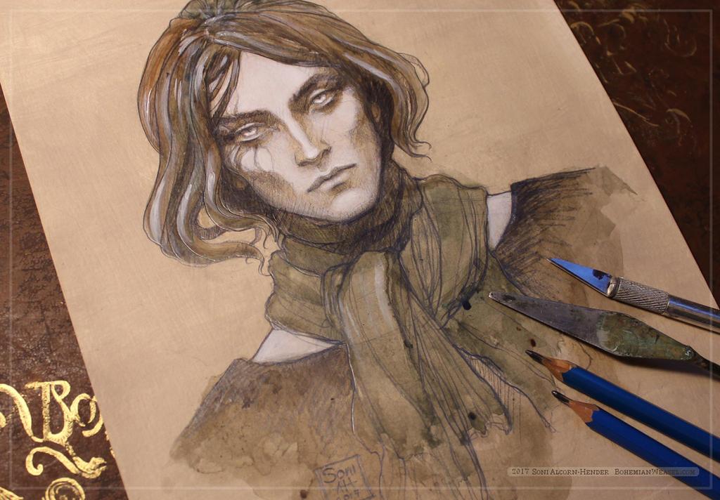 Sketch 'Damien' by BohemianWeasel