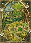 'Stained-glass' Shire miniature