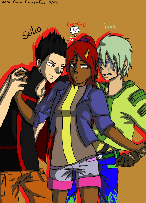 Seiko, ceceliet and Isac (OC`s) by Zero-Chan-Anime-Fan
