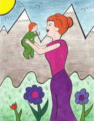Ireland Mother and Child by graciegralike
