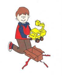 Little Boy on Christmas by graciegralike