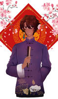 Arjuna chinese traditional dress ( complete )
