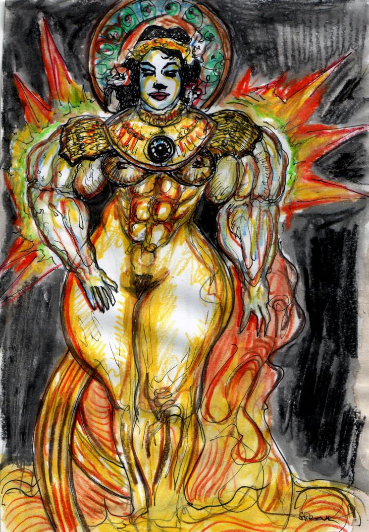 Goddess Art Noveau by Spoonk