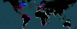 World war 3000. World map
