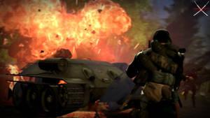 WW2. Tank kill. by Samuraiknight-1600