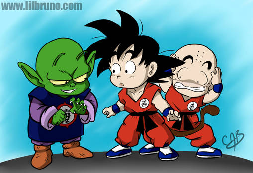 DB - Goku, Krillin and Piccolo Jr. by LilBruno