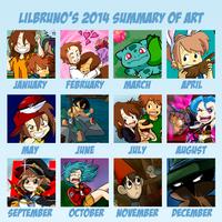 Summary of Art 2014 by LilBruno