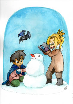 Watercolor 02: Herowitz and Lyric Snowman