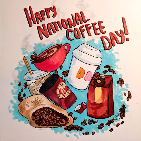 Happy #NationalCoffeeDay ! by LilBruno
