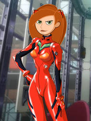 Kim Possible as Asuka Langley by FitzOblong