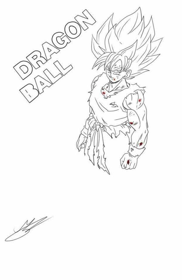 Goku super saiyan (in progress) by Mariusotaku