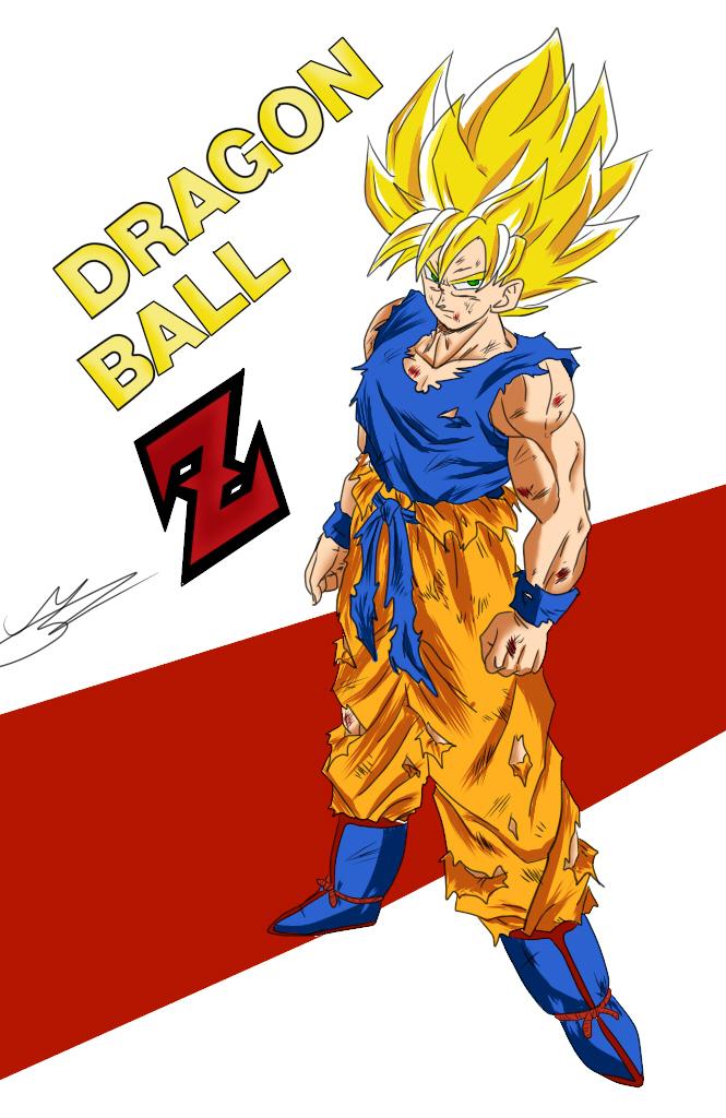Goku super saiyan (BY ME) by Mariusotaku