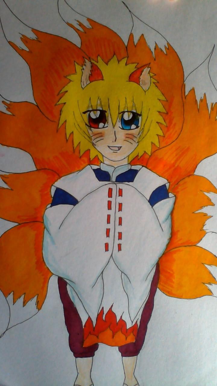 Child Naruto Nine Tailed Fox Spirit Colour By Kurohimex105 On Deviantart