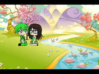 Alfie and Daria at the pack Cherry Blossom by Teaganm